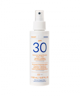 Korres Yoghurt Sunscreen Spray Emulsion Face & Body Spf30 for Sensitive Skin 150ml