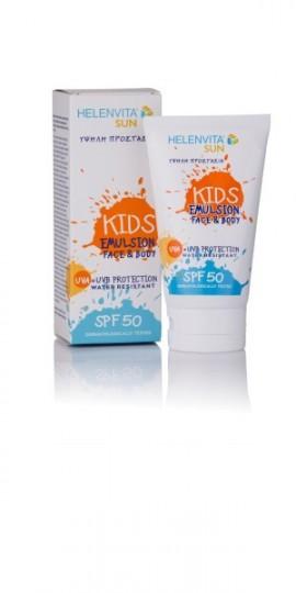 HELENVITA Sun Kids Emulsion SPF50 Face & Body Παιδικό Αντηλιακό Γαλάκτωμα 150ml