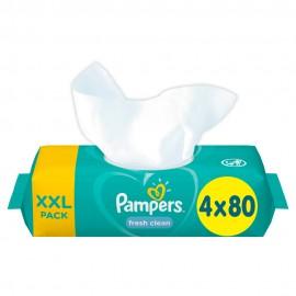 Pampers Fresh Clean Μωρομάντηλα 4 Χ 80τμχ