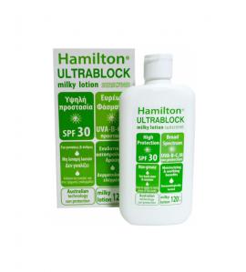 Hamilton Ultrablock SPF30 Body Sunscreen Milky Lotion 120ml