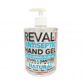 Intermed Reval Plus Antiseptic Hand Gel Natural Σκοτώνει τα Μικρόβια σε 60΄΄ 500ml