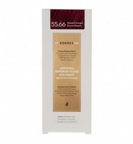 KORRES Abyssinia Superior Gloss Colorant 55.66 Καστανό Ανοιχτό Έντονο Κόκκινο 50ml