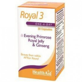HEALTH AID ROYAL +3™ (ROYAL JELLY + E.P.O. + KOREAN GINSENG) CAPSULES 30S