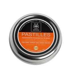 APIVITA PASTILLES Παστίλιες για τον πονεμένο λαιμό και το βήχα με γλυκόριζα & πρόπολη