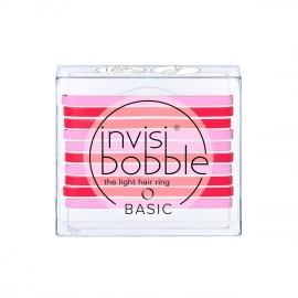 Invisibobble Basic Light Hair Ring Jelly Twist Λαστιχάκια Μαλλιών με Χρώμα Ροζ 10τμχ