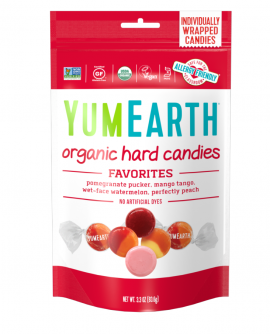 Yumearth Organic Hard Candies Βιολογικές Καραμέλες Φρούτων 93.6gr