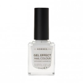 Korres Βερνίκι Νυχιών Gel Effect Nail Colour No.01 Blanc White 11ml