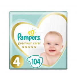 Pampers Premium Care Πάνες Μέγεθος 4 Maxi 9-14 kg 104 Πάνες