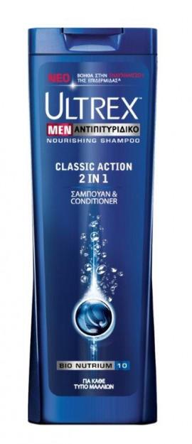 Ultrex Men Αντιπιτυριτιδικό Σαμπουάν για Κάθε Τύπο Μαλλιών Classic Action 2in1 360ml