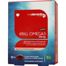 My Elements KRILL OMEGA-3 500MG 30TABS