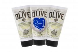 Korres set Pure Greek Olive Κρέμα Χεριών Άνθη Ελιάς 75ml 2+1 Δώρο