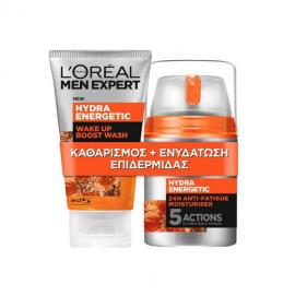 LOreal Paris Set Men Expert Hydra Energetic 24ώρη Κρέμα Κατά των Σημαδιών Κούρασης 48ml + Men Expert Face Wash 100ml