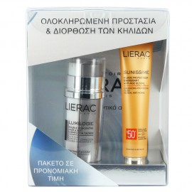 Lierac Set Lumilogie Day & Night Dark-Spot Correction 2 X15ml & Sunissime Fluide Protecteur Energisant Spf50+ 40ml