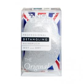 Tangle Teezer Detangling Hairbrush Wet and Dry The Original Βούρτσα Μαλλιών Silver Glitter/White 1τμχ