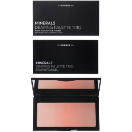 Korres Minerals Draping Palette Trio Coral Παλέτα Τριών Αποχρώσεων Για Τεχνική Draping Με Ρουζ Ηighlighter & Βronzer 21gr