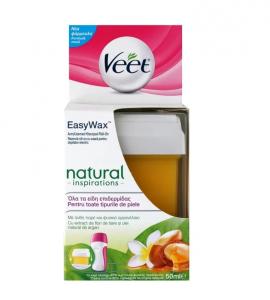 Veet Easy Wax Natural Inspirations Ανταλλακτικό Ηλεκτρικό Roll-on Κερί για Όλους τους Τύπους Επιδερμίδας 50ml