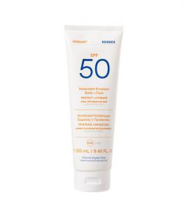 Korres Yoghurt Sunscreen Emulsion Face & Body Spf50 for Sensitive Skin 250ml