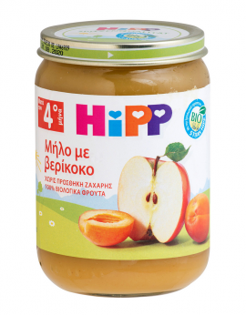 Hipp - Βρεφική Φρουτόκρεμα Μήλο με Βερίκοκο Μετά τον 4ο Μήνα 190g