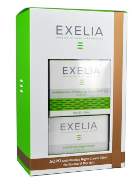 Exelia Anti-Wrinkle & Firming Day Cream SPF15 Oily Skin 50ml + Δώρο Anti-Wrinkle Night Cream Oily Skin 50ml