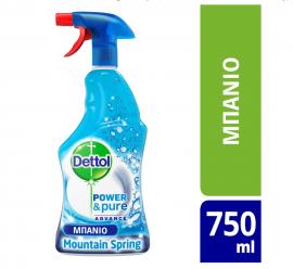 Dettol Power & Pure Bathroom Fresh Mountain Spring 750ml