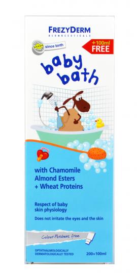 Frezyderm Baby Bath, Βρεφικό Αφρόλουτρο, Χωρίς Χρωστικές & Parabens 200ml + 100ml ΔΩΡΟ