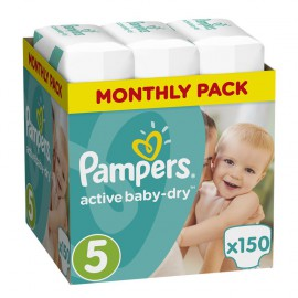 Pampers Active Baby-Dry Νο.5 (11-23Kg) 150 Πάνες