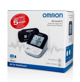 Omron M4 Intelli IT Automatic Upper Arm Blood Pressure Monitor Έξυπνο Πιεσόμετρο Μπράτσου 1τμχ (HEM-7155T)