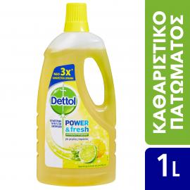 Dettol Power & Fresh Αντιβακτηριδιακό Πολυκαθαριστικό Για Μεγάλες Επιφάνειες Sparkling Lemon & Lime Burst 1lt