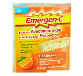 Emergen-C Βιταμίνη C 1000mg 10φακ. 99gr Με Γεύση Πορτοκάλι