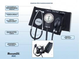 Rossmax AGC with Stethoscope Αναλογικό Πιεσόμετρο με Στηθοσκόπιο