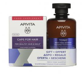 Apivita Set For Healthy Hair & Nails 30caps + Δώρο Mens Tonic Shampoo Hippophae TC & Rosemary 250ml