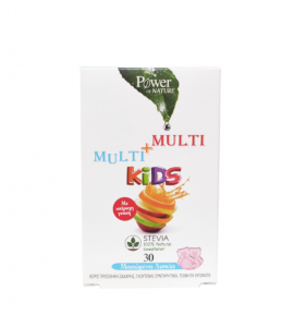 Power Health Multi + Multi Kids Stevia με Φρουτένια Γεύση 30 Μασώμενα Δισκία