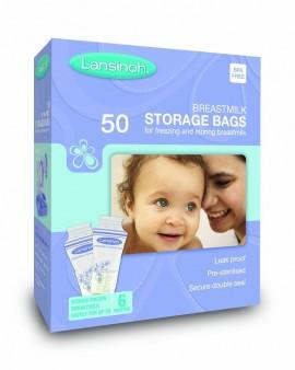 Lansinoh Σακουλάκια Αποθήκευσης Μητρικού Γάλακτος 50τμχ