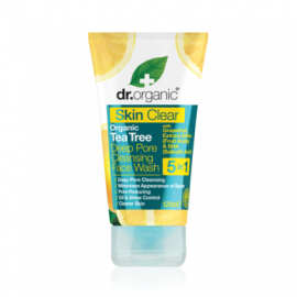 DR.ORGANIC Skin Clear Organic Tea Tree Deep Pore Cleansing Face Wash 125ml