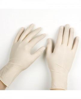 Σύνδεσμος Γάντια Λάτεξ Μιας Χρήσης Χωρίς Πούδρα Medium 100τμχ