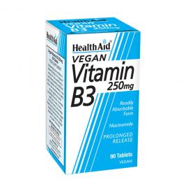 HEALTH AID VITAMIN B3 (NIACIN) 250MG TAB 90S
