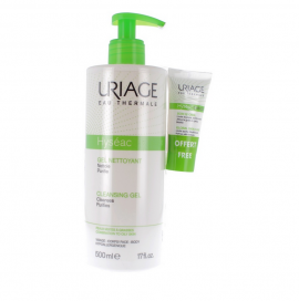 Uriage Set Hyseac Cleansing Gel 500ml & ΔΩΡΟ Hyseac 3-Regul Global Skin Care 15ml