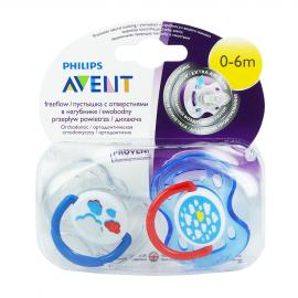 AVENT Μοντέρνα Ορθοδοντική Πιπίλα Σιλικόνης, 0-6 μηνών (για Αγόρι) Χωρίς BPA SCF172/18