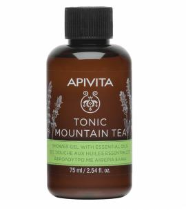 Apivita Mini Shower Gel Αφρόλουτρο Tonic Mountain Tea 75 ml