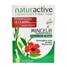 Naturactive Minceur Set Συμπλήρωμα Διατροφής Πράσινο Τσάι & Ιβίσκος 15+5 Δώρο