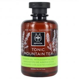 Apivita Tonic Mountain Tea Αφρόλουτρο με Αιθέρια Έλαια 300 ml