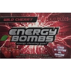 VICAN Energy Bombs Chewing Gum,Τσίχλες Ενέργειας Αγριο κεράσι 10τμχ.
