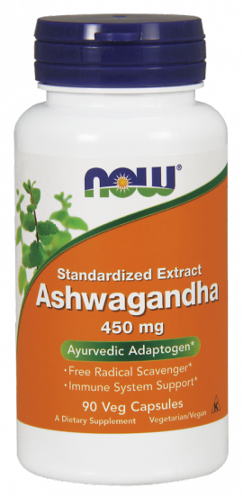 Now Foods Ashwagandha Extract 450mg 90 Veget.caps