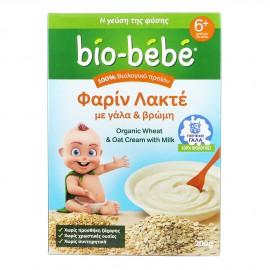 Bio-Bebe Φαρίν Λακτέ με Γάλα & Βρώμη 6m+ Βιολογικής Καλλιέργειας 200gr