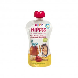 Hipp Hippis Μήλο, Μπανάνα, Βατόμουρα & Δημητριακά Ολικής Άλεσης 100gr