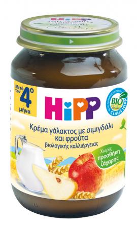 Hipp Κρέμα Γάλακτος με Σιμιγδάλι & Φρούτα απο τον 4ο Μήνα 190g