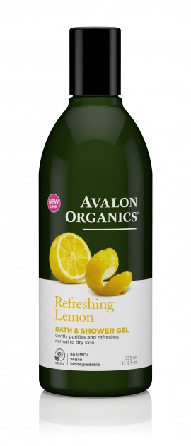 Avalon Organics Refreshing Bath & Shower Gel Lemon 355ml