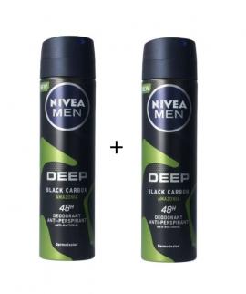 Nivea Men Deep Black Carbon Amazonia Spray 150ml 1+1 Δώρο