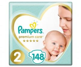 Pampers Premium Care Νο.2 (4-8kg) 148 Πάνες