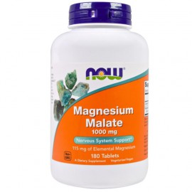 Now Foods Magnesium Malate 1000mg, 180tabs